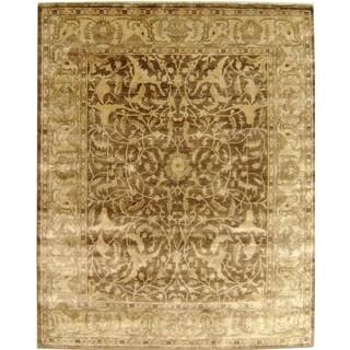Sultanabad Tobacco / Beige New Zealand Wool Rug (4' x 6')