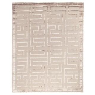 Metro Velvet Beige Wool / Art Silk Rug (9' x 12')