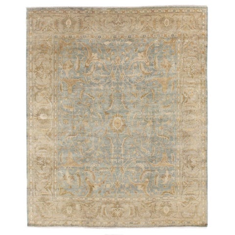 Exquisite Rugs Sultanabad Light Green / Beige New Zealand Wool Rug - 4' x 6'