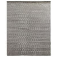 Exquisite Rugs Metro Velvet Silver Wool and Silk Rug (9' x 12')
