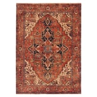 Exquisite Rugs Serapi Red New Zealand Wool Rug - 4' x 6'