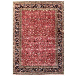 Millefleur Red / Blue New Zealand Wool Rug (8' x 10')