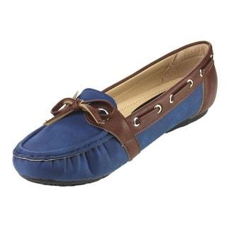 Beston Flat Heel Slip On Boat Shoe Driving Loafers
