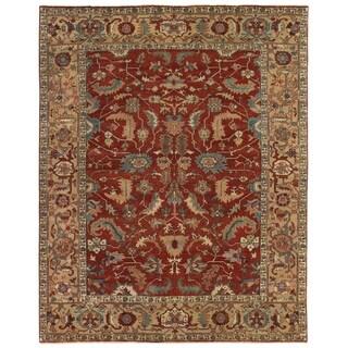 Serapi Red / Gold New Zealand Wool Rug (10' x 14')