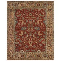 Exquisite Rugs Serapi Red / Gold New Zealand Wool Rug (10' x 14')