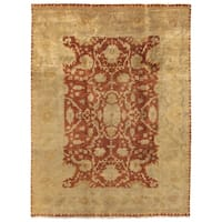 Exquisite Rugs Anatolian Oushak Rust / Gold New Zealand Wool Rug - 6' x 9'