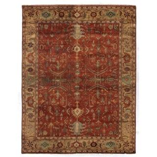 Serapi Red / Gold New Zealand Wool Rug (9' x 10')