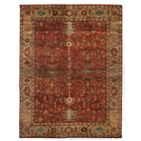 Exquisite Rugs Serapi Red / Gold New Zealand Wool Rug (8' x 10') - 8' x 10'