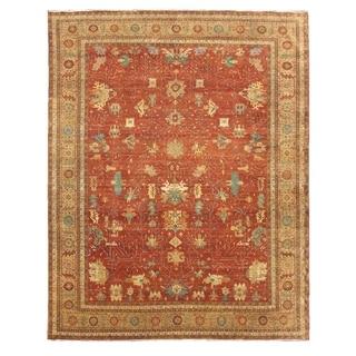 Serapi Red / Gold New Zealand Wool Rug (9' x 12')