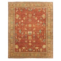 Exquisite Rugs Serapi Red / Gold New Zealand Wool Rug (9' x 12')