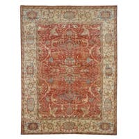 Exquisite Rugs Serapi Red / Ivory New Zealand Wool Rug (10' x 14') - 10' x 14'
