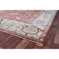 Exquisite Rugs Serapi Red / Ivory New Zealand Wool Rug - 8' x 10'
