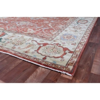 Serapi Red / Ivory New Zealand Wool Rug (9' x 10')