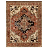 Exquisite Rugs Serapi Red / Multi New Zealand Wool Rug - 10' x 14'