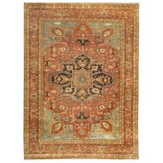 Serapi Rust / Sky New Zealand Wool Rug (10' x 14')