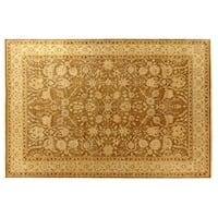 Exquisite Rugs Ziegler Sand / Beige New Zealand Wool Rug (6' x 9') - 6' x 9'