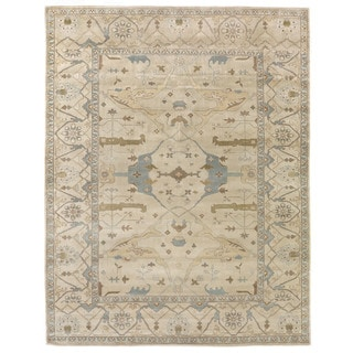 Turkish Oushak Ivory New Zealand Wool Rug (6' x 9')