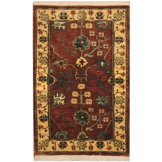 Herat Oriental Indo Hand-knotted William Morris Wool Rug (3'6 x 5'6)