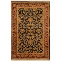Handmade Herat Oriental Indo Khorasan Wool Rug  - 4'1 x 6'1 (India)