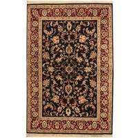 Herat Oriental Indo Hand-knotted Kashan Wool Rug - 4'1 x 6'