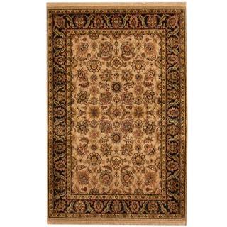 Herat Oriental Indo Hand-knotted Kashan Wool Rug (4'1 x 6'2)