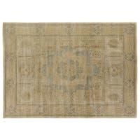 Exquisite Rugs Tabriz Pale Gold / Grey New Zealand Wool Rug - 6' x 9'