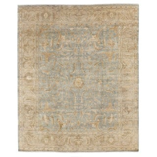 Sultanabad Light Green / Beige New Zealand Wool Rug (6' x 9')