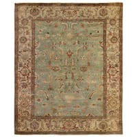 Exquisite Rugs Serapi Light Blue / Ivory New Zealand Wool Rug - 6' x 9'