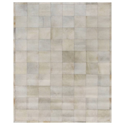 Exquisite Rugs Natural Ivory Leather Hair-on-Hide Rug (5' x 8') - 5' x 8'