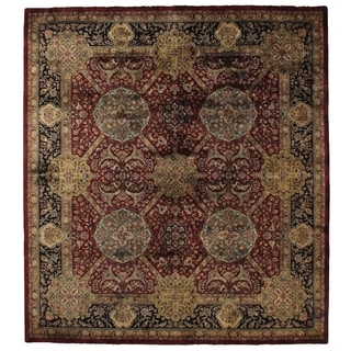 Super Lavar Maroon New Zealand Wool Rug (9' x 12')