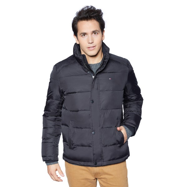 mens tommy hilfiger nylon updated classic puffer jacket 0faab1c6 3566. Black Bedroom Furniture Sets. Home Design Ideas