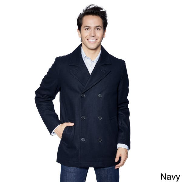 billigare det senaste nya stilar Shop Men's Tommy Hilfiger Melton Classic Wool Peacoat - Overstock ...
