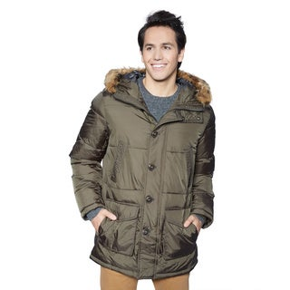 Tommy Hilfiger Men's Nylon with Faux Fur Trim Hooded Parka
