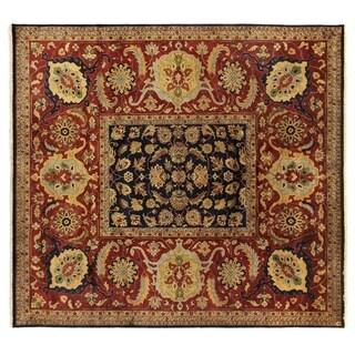 Exquisite Rugs Tabriz Navy New Zealand Wool Rug (9' x 10')
