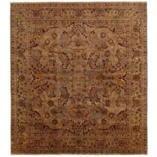 Tabriz Gold / Green New Zealand Wool Rug (8' x 10')
