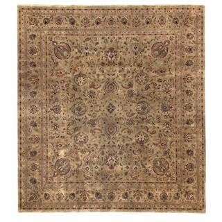 Tabriz Green New Zealand Wool Rug (9' x 10')