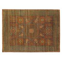 Exquisite Rugs Tabriz Rust / Green New Zealand Wool Rug - 9' x 12'