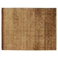 Exquisite Rugs Super Tibetan Beige Wool and silk Rug (8'8 x 11'5)