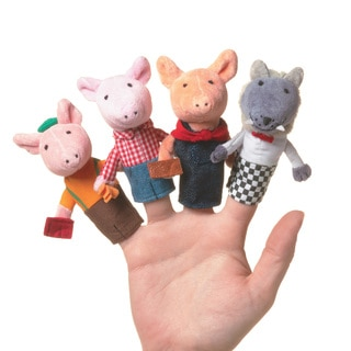 Manhattan Toy Storytime 'The Three Little Pigs' Fabric Finger Puppet Set