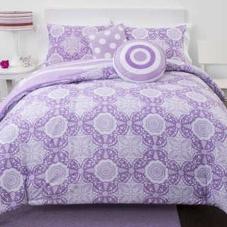 Lavender Medallion Reversible 5-piece Comforter Set