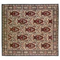 Exquisite Rugs Super Tibetan Gold Hand-spun New Zealand Wool and Silk Rug (9' x 10') - 9' X 10'