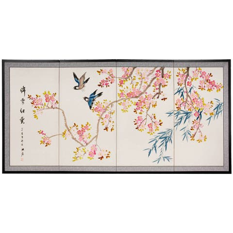 Handmade Shing Huo Blossom Silk Screen