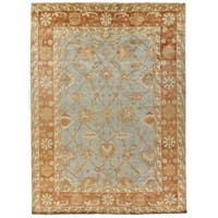 Exquisite Rugs Turkish Oushak Blue / Brown New Zealand Wool Rug - 8' x 10'