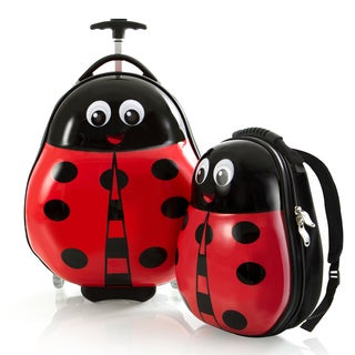 Heys Kid's Lady Bug Lightweight 2-piece Luggage and Backpack Set