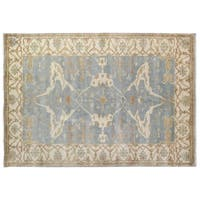 Exquisite Rugs Turkish Oushak Blue / Ivory New Zealand Wool Rug