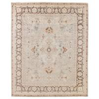 Exquisite Rugs Turkish Oushak Brown and Grey New Zealand Wool Rug (8' x 10') - 8' x 10'