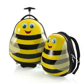 Heys Bumble Bee Yellow Polycarbonate 18-inch x 9-inch x 13.5-inch Lightweight 2-piece Kids' Luggage and Backpack Set