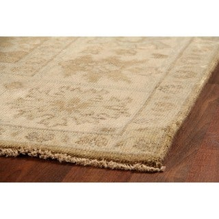 Exquisite Rugs Turkish Oushak Grey / Brown New Zealand Wool Rug (9' x 12')
