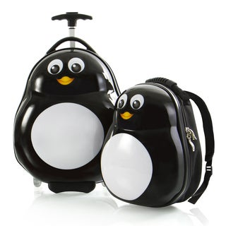 Heys Penguin Lightweight 2-piece Kids' Luggage and Backpack Set