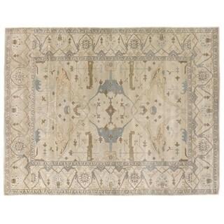 Exquisite Rugs Turkish Oushak Ivory New Zealand Wool Rug (8' x 10') - 8' x 10'